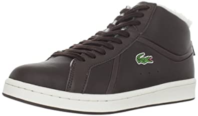 Lacoste Men's Bryont Mid A Sneaker,Dark Brown/Off White,9.5 M US