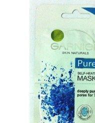 GARNIER Skin Naturals Pure Self Heating Sauna mask Twin