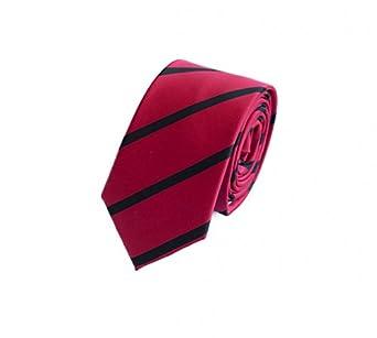 Étroit Cravate de Fabio Farini en rouge noir