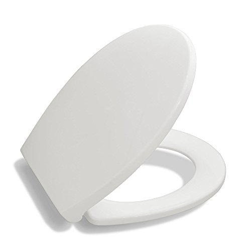 Bath Royale Premium Round Toilet Seat with Cover, White - Soft Close, Quick Release for Easy Cleaning, Ideal for Bathroom Remodeling or Update, Fits All Round Bowls and All Toilet Brands (Slow Close Potty compare prices)