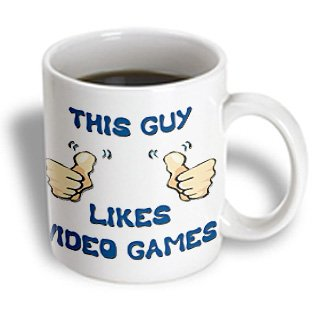 3Drose Mug_150506_1 This Guy Likes Video Games Ceramic Mug, 11-Ounce
