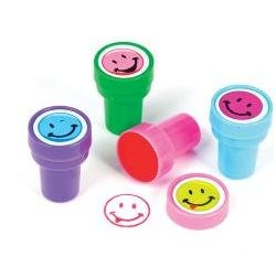 Smile Face Assorted Face Stamper 1.38 in (24 pack)