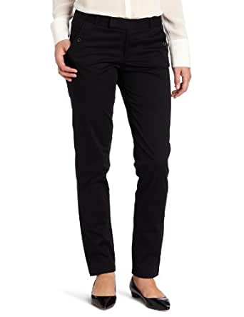 Dockers Women's Alpha Clean Khaki Pant, Black, 4
