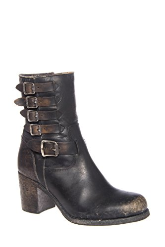 Kelly Belted Short Mid Heel Boot