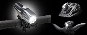 Cygolite Milion 200 Led Rechargable 1-piece Headlight W/ Helmet Mount.