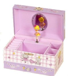Childrens Lilac Musical Ballerina Jewellery Box with Drawer