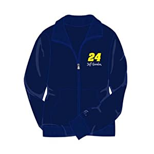 #24 Jeff Gordon Navy Ladies Fu Zip Fleece -C24850132 by Brickels