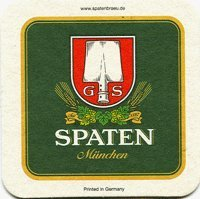 Spaten Munchen Paperboard Coasters - Set of 4 (Spaten Beer compare prices)