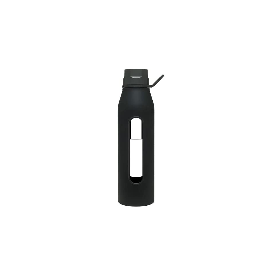 Classic Glass Water Bottles  BlackBlack, 22 oz. Sports