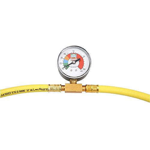 Toolmall R134A Recharge Measuring Kit Air Conditioner Conditioning Gauge System Hose front-150558