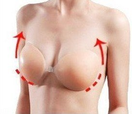 Push up Enhancer Self Adhesive Silicone Strapless Size Cup C