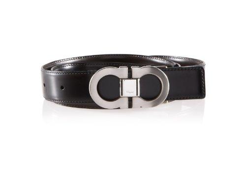 Salvatore Ferragamo Reversible Adjustable Mens Belt (Black)
