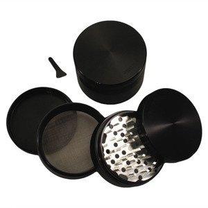"""3.0"""" - Black 4 Piece SharpStone® Aluminum Herb Grinder"""