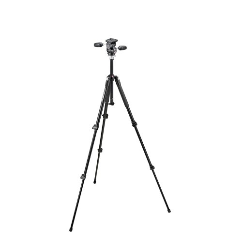 Manfrotto 190XB 3 Section Aluminum Tripod with Manfrotto 804RC2 Basic Pan Tilt Head