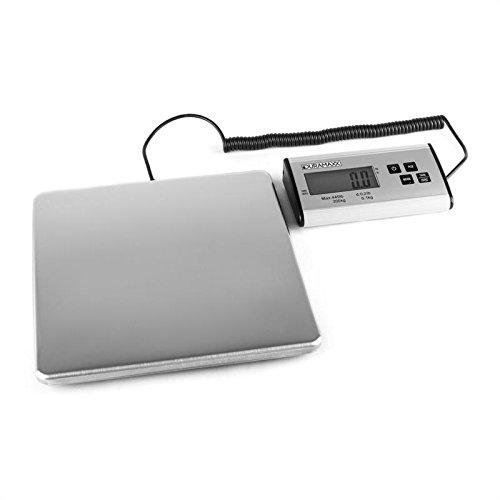 oneConcept Marketeer - Pèse colis / pèse lettre, balance de cuisine ou courrier avec écran séparé (200kg/100g, 27x27cm)