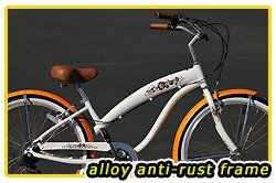 Anti-Rust Aluminum Frame! Fito Modena EX Alloy 7-speed Women - white/orange, 26