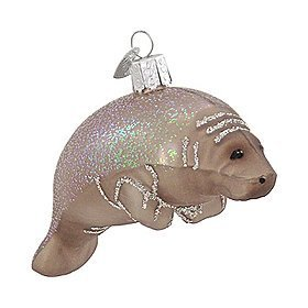 #!Cheap Old World Christmas Manatee Ornament