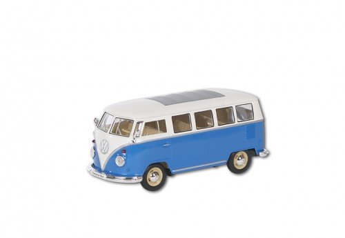 Welly 22095 blue - Sammlermodell VW Bus T1 1962, 1/24 aus Metall, blau
