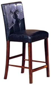 Amazon Com Roundhill Furniture 24 Inch Blended Leather