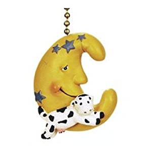 Cow Jumped Over The Moon Nursery Baby Ceiling Fan Pull