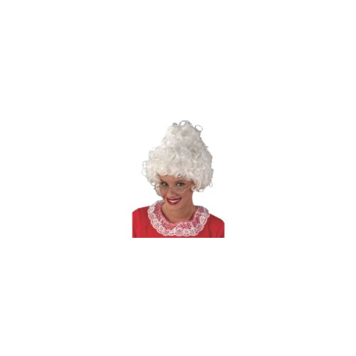 Mrs. Santa Claus Curly White Christmas Wig - One Size Fits All