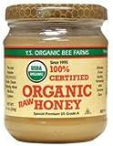 100% Certified Organic Raw Honey 8 oz (226 grams) Paste