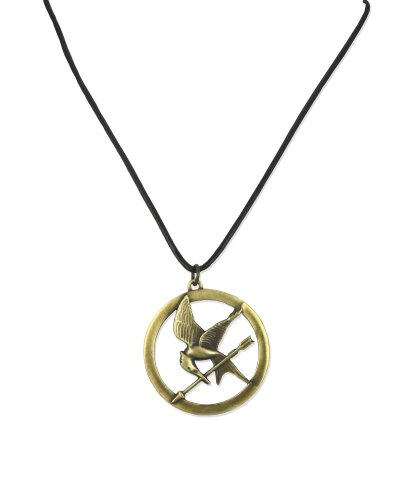 The Hunger Games Necklace Pendant Necklace On Leather Cord