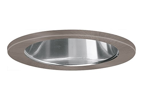 "Aurora 6"" Mirrored Cone, Satin Nickel Trim For Halo / Juno Recessed Downlight Cans, Par38 Version - Ar-Tr63Mrsn"