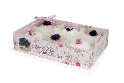Rose And Co Patisserie De Bain Rose &amp; Violet Coco Butter Bath Fondants 6 x 15g at Amazon.com
