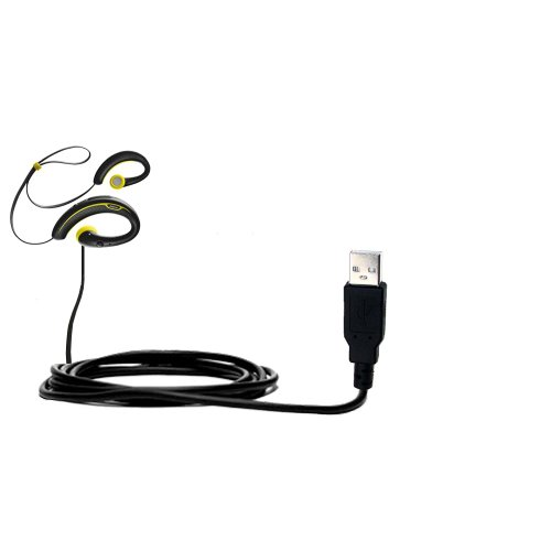 Usb Data Hot Sync Straight Cable Designed For The Jabra Sport Wireless Plus With Charge Function - Two Functions In One Unique Gomadic Tipexchange Enabled Cable