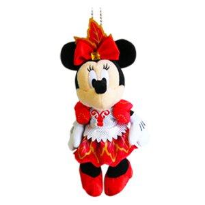 【ディズニーサマーフェステイバル 2013】 ミニーマウス ぬいぐるみバッジ 【ディズニーシー限定】 ミッキーマウス ミニーマウス 夏祭り Disney
