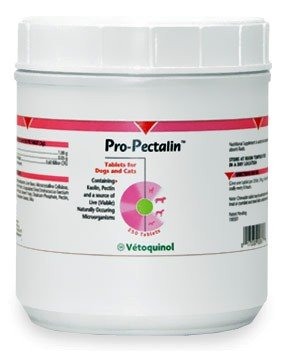Pro-Pectalin Anti-Diarrheal Tablets for Dogs and Cats, 250 Tablets