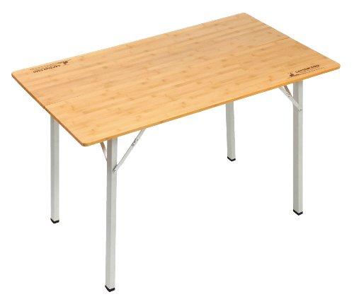 【キャプテンスタッグ】竹製フォールディングテーブル