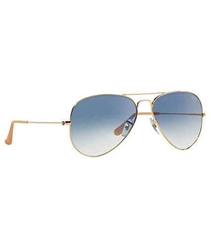 Ray-Ban RB3025 001/3F Medium Size 58 Aviator Sunglasses