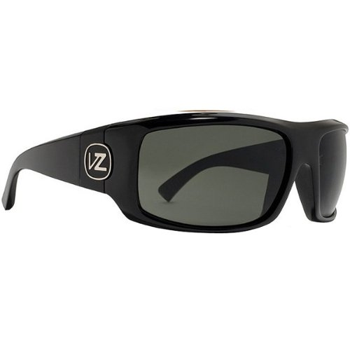 VonZipper Clutch Men's Polarized Race Wear Sunglasses - Black Gloss/Grey Poly / One Size Fits All