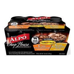 Alpo Chop House Originals - Variety Pack - Filet Mignon & Roasted Chicken - 12 x 13.2 oz