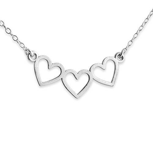 925-sterling-silver-3-open-hearts-charm-pendant-necklace-18-inches
