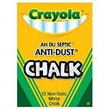 Crayola Non-toxic Anti-Dust White Chalk. (One Box)