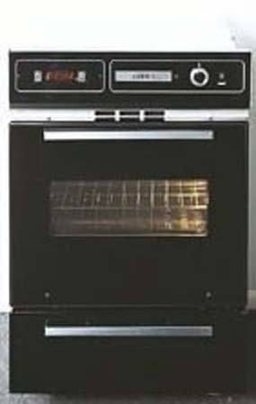 Summit TTM7212DK 24 Single Gas Wall Ove, Broiler Door, Electronic Ignition, Clock, Timer - Black
