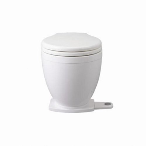 Jabsco Lite Flush Compact 24 Volt Marine Electric Toilet with Panel Control