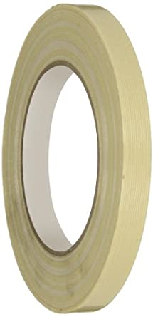 Intertape Fiberglas Reinforced Polyester Backed Medium Grade Filament Tape, 175 lbs/inch Tensile Strength, Natural