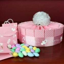 wmu 1 tier baby shower favor cake kit it 39 s a girl
