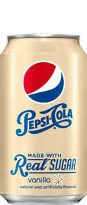 Pepsi Cola Limited Edition Real Sugar Vanilla Soda, 12-12 Oz Cans Fridge Pack