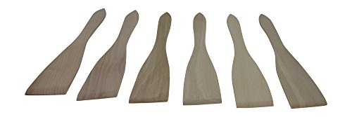 BICB Wooden Spatula/Turner , 12-Inch (Set of 6) (Wooden Cooking Spatula compare prices)