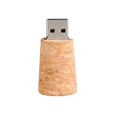 4 GB Glass Bottle with Cork USB Flash Drive (Transparent)