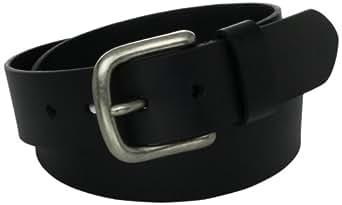 Mens Leather Bridle Cut Belt, Black, 32