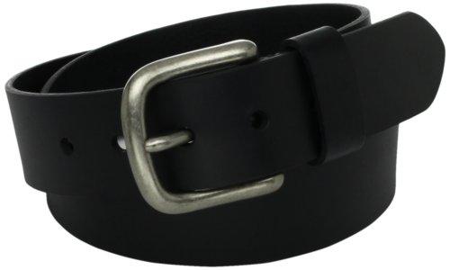 Mens Leather Bridle Cut Belt, Black, 40