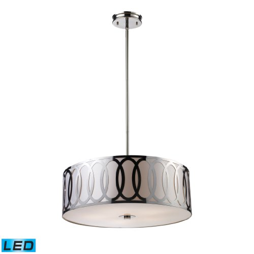Anastasia 5-Light Pendant In Polished Nickel - Led, 800 Lumens (4000 Lumens Total) With Full Scale Dimming Range, 60 Watt (300 Watt Total)Equivalent , 120V Replaceable Led Bulb Included