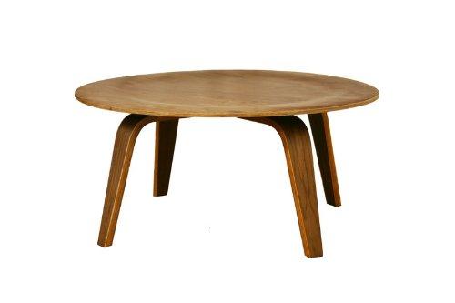 Baxton Studio Harper Mid-Century Modern Molded Plywood Coffee Table