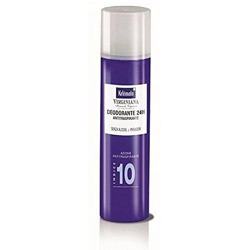 Kelemata Virginiana Deodorante Spray 24h Antitraspirante Indice 10 100 ml